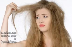 ۷ روش درمانی آسان برای موهای خشک